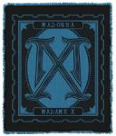 MADAME X - WOVEN BLACK / BLUE 5ft LOGO BLANKET